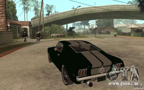 Ford Mustang TOKYO DRIFT für GTA San Andreas zurück linke Ansicht