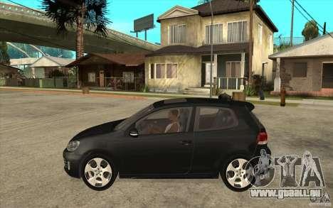 VW Golf 6 GTI pour GTA San Andreas laissé vue