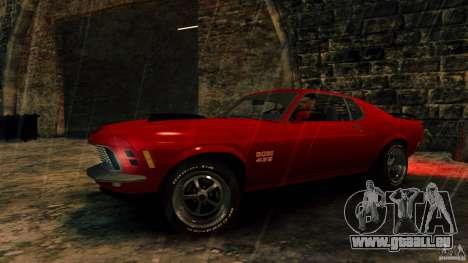 Ford Mustang BOSS 429 pour GTA 4 Vue arrière