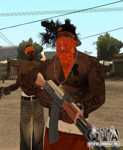 Bandes de remplacement, tatouages, vêtements, et pour GTA San Andreas