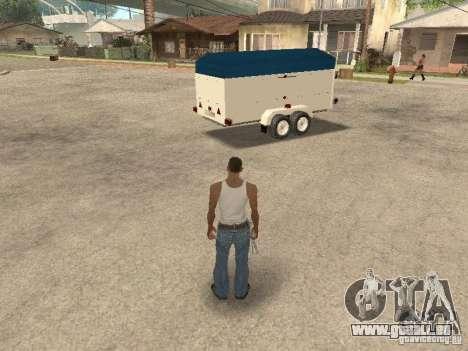 Trailer für Ford Transit 2007 für GTA San Andreas linke Ansicht
