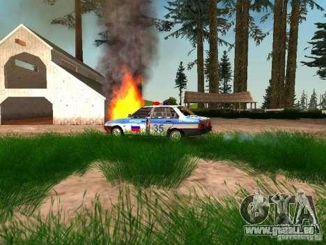 VAZ 2109 Police pour GTA San Andreas vue de côté