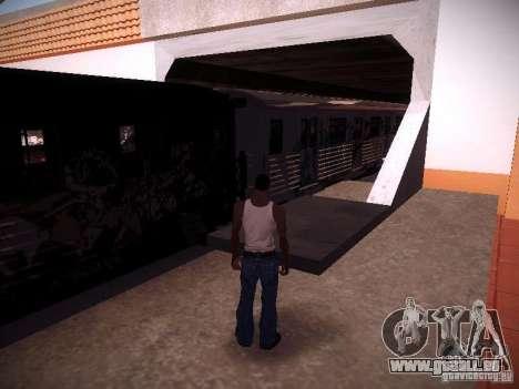 Der Zug aus GTA IV für GTA San Andreas zurück linke Ansicht