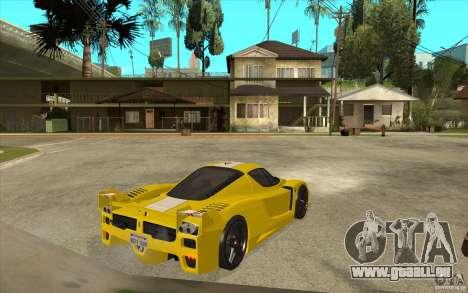Ferrari FXX 2005 pour GTA San Andreas vue arrière