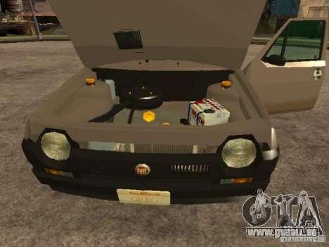 Fiat Ritmo pour GTA San Andreas vue intérieure
