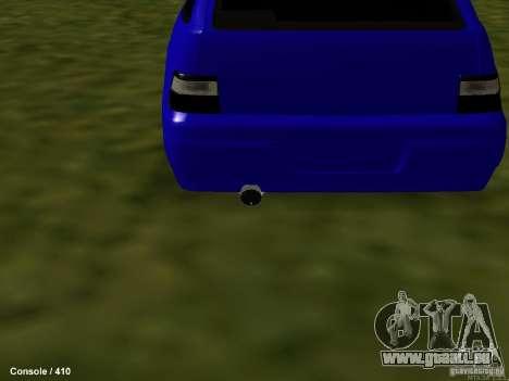 VAZ-2112 pour GTA San Andreas vue intérieure