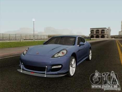 Porsche Panamera Turbo 2010 für GTA San Andreas Innenansicht