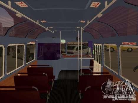 PAZ 672 pour GTA San Andreas vue intérieure