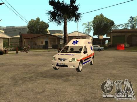 Dacia Logan Ambulanta pour GTA San Andreas vue de côté