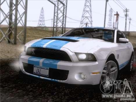 Ford Shelby Mustang GT500 2010 pour GTA San Andreas vue de dessous