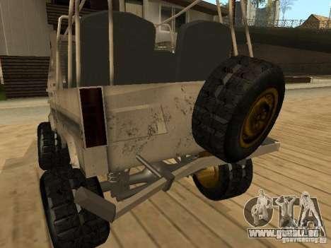LuAZ 969 Offroad für GTA San Andreas Unteransicht