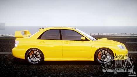 Subaru Impreza STI pour GTA 4 est une vue de l'intérieur