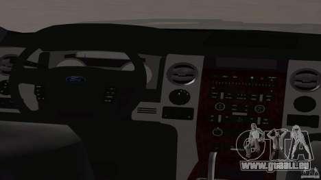 Ford F-150 Platinum Final 2013 pour GTA San Andreas vue arrière