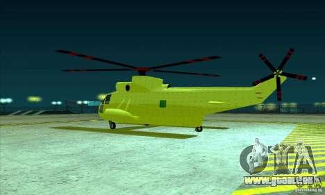 Erweiterte Leviathan für GTA San Andreas Rückansicht