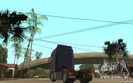 MAN TGX V8 pour GTA San Andreas sur la vue arrière gauche
