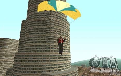 Global fashion parachute pour GTA San Andreas cinquième écran