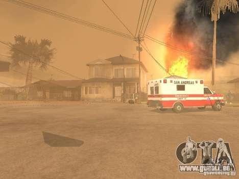Tremblement de terre pour GTA San Andreas deuxième écran