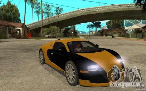 Bugatti Veyron v1.0 pour GTA San Andreas vue arrière