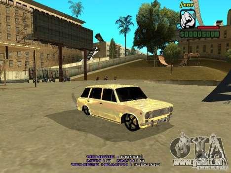 VAZ 2102 or pour GTA San Andreas laissé vue