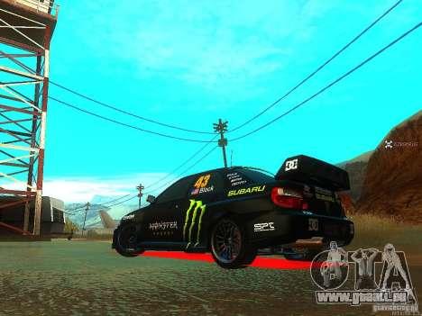 Subaru Impreza Gymkhana Practice pour GTA San Andreas sur la vue arrière gauche