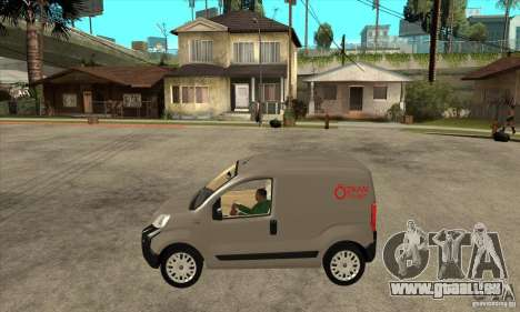 Citroen Nemo 2010 pour GTA San Andreas laissé vue