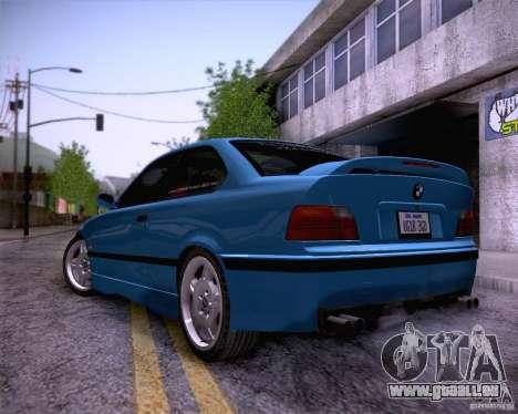 BMW M3 E36 1995 pour GTA San Andreas vue de dessous