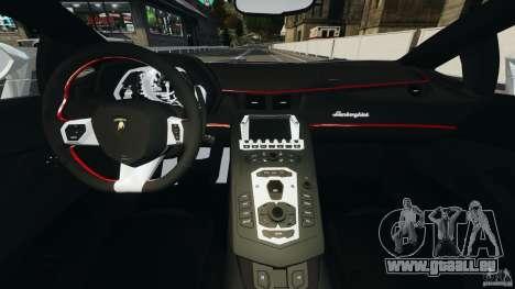 Lamborghini Aventador LP700-4 2012 pour GTA 4 Vue arrière