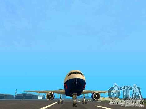 McDonell Douglas DC10 British Airways pour GTA San Andreas vue arrière