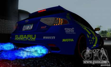 2008 Subaru Impreza Tuneable pour GTA San Andreas roue