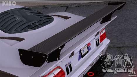 Mercedes-Benz CLK GTR Road Carbon Spoiler pour GTA San Andreas vue de dessous