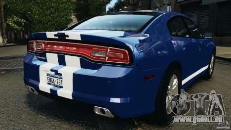 Dodge Charger Unmarked Police 2012 [ELS] pour GTA 4 Vue arrière de la gauche