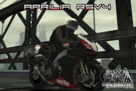 Aprilia RSV4 SBK pour GTA 4