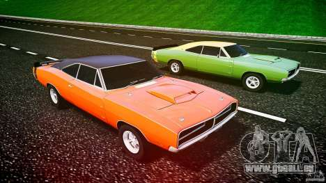 Dodge Charger RT 1969 tun v1.1 pour GTA 4 est une vue de dessous