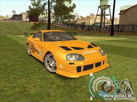 Toyota Supra from 2 Fast 2 Furious für GTA San Andreas obere Ansicht