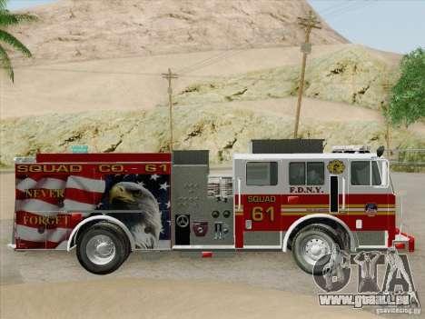 Seagrave Marauder. F.D.N.Y. Squad 61. für GTA San Andreas Motor