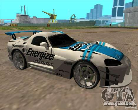 Dodge Viper Energizer pour GTA San Andreas laissé vue