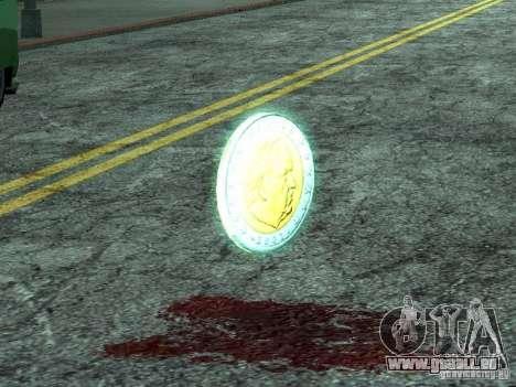 Pièces en euro pour GTA San Andreas deuxième écran