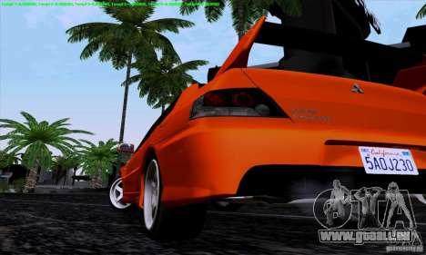 Mitsubishi Lancer Evolution IX 2006 für GTA San Andreas rechten Ansicht