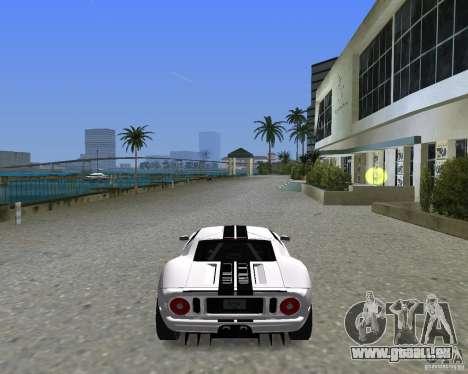 Ford GT pour GTA Vice City sur la vue arrière gauche