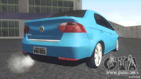 Volkswagen Voyage G6 2013 pour GTA San Andreas laissé vue
