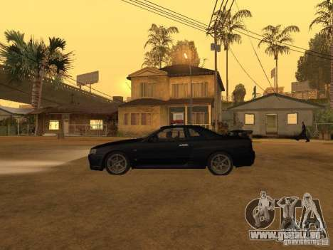 Nissan Skyline R34 Police für GTA San Andreas linke Ansicht