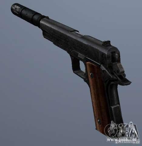 SilencedM1911 pour GTA San Andreas deuxième écran