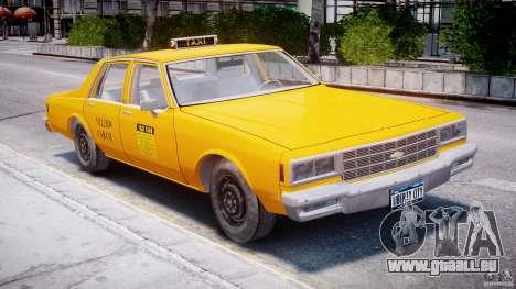 Chevrolet Impala Taxi 1983 pour GTA 4 est une gauche