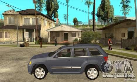 Jeep Grand Cherokee SRT8 v2.0 pour GTA San Andreas laissé vue