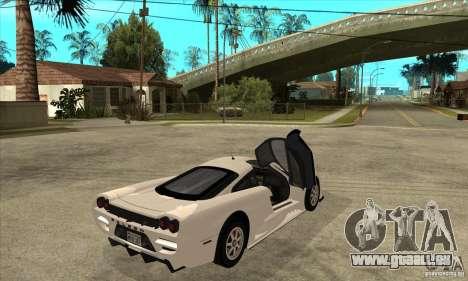 Saleen S7 Twin Turbo pour GTA San Andreas vue de droite