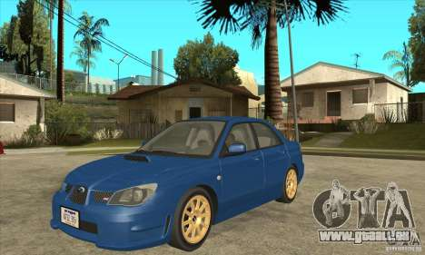 Subaru Impreza WRX STI 2006 pour GTA San Andreas laissé vue
