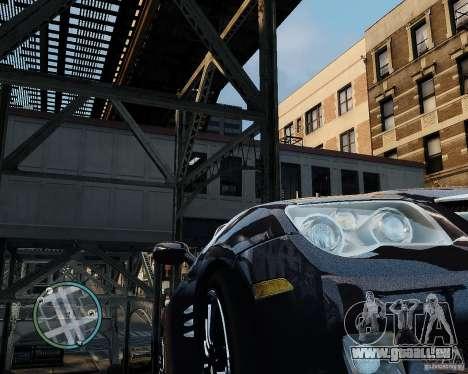 2007 Chrysler Crossfire pour GTA 4 Vue arrière