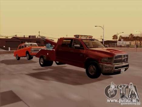 Dodge Ram 3500 TowTruck 2010 pour GTA San Andreas sur la vue arrière gauche