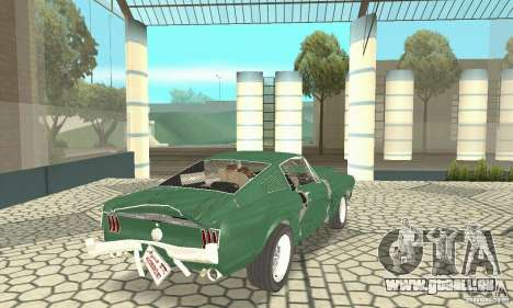 Ford Mustang Fastback 1967 für GTA San Andreas obere Ansicht