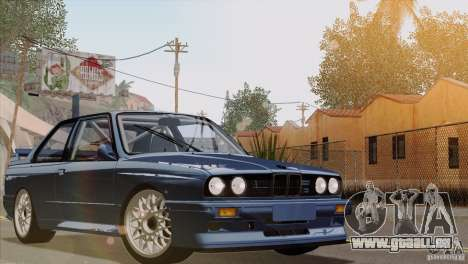 BMW M3 E30 für GTA San Andreas obere Ansicht